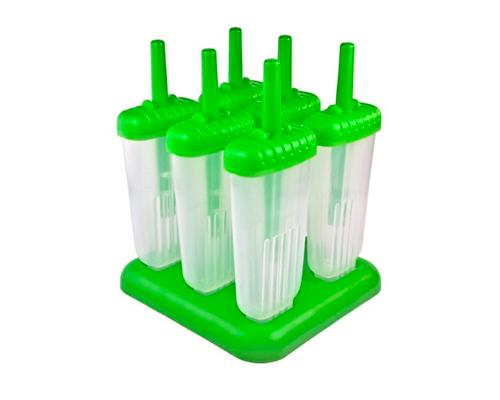 Reusable Ice Pop Molds Set of 6 - Green