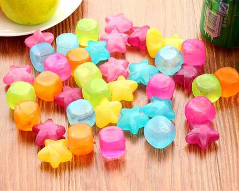 Whiskey Ice Cubes Rocks Stones Wine Beer Chillers - 20 Pcs Star