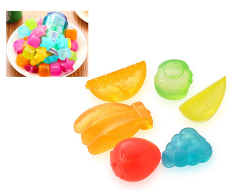 Whiskey Ice Cubes Rocks Stones Wine Beer Chillers - 6 Pcs Fruit