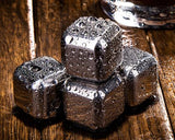 Stainless Steel Whiskey Rocks Stones Wine Beer Chillers -Heart+Diamond