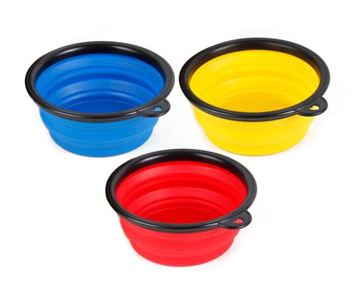 Travel Use Silicone Collapsible Dog Bowl Set of 3