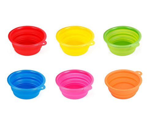 Travel Silicone Collapsible Dog Bowl Pet Water Dish