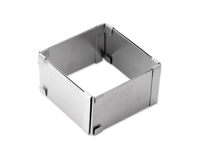 Adjustable Stainless Steel  Square Frame Mould Cake Ring