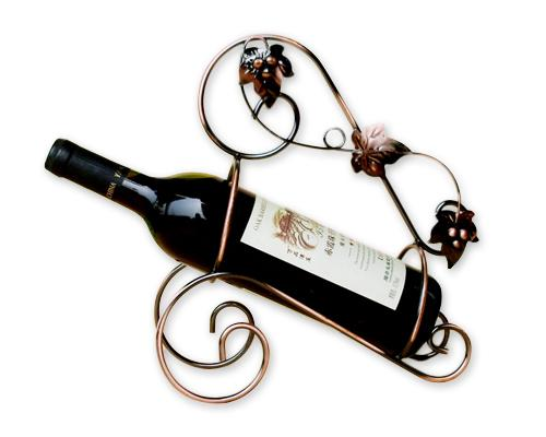 Metal Single Wine Bottle Holder Tabletop Display Rack