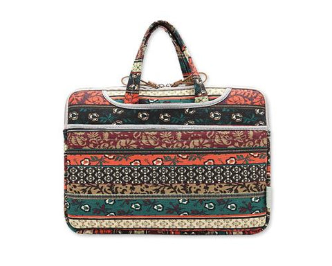 Bohemian Series Laptop Sleeve Case with Handle - Red