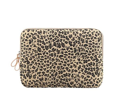 Leopard Series Laptop Canvas Case