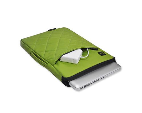Diamond Series MacBook Sleeve Case with Handle - Green
