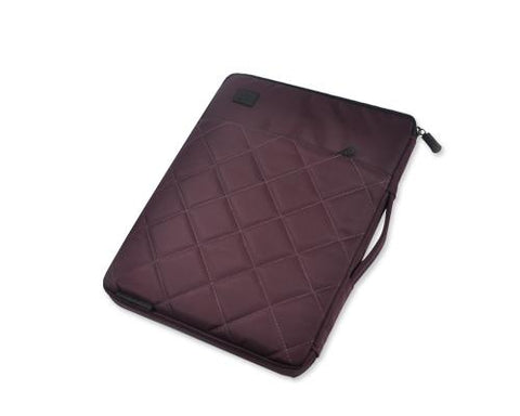 Diamond Series MacBook Sleeve Case with Handle - Burgundy