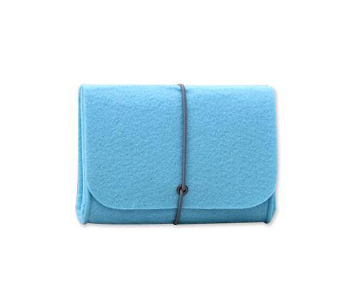 Wool Series MacBook Accessories Hand Pouch - Blue