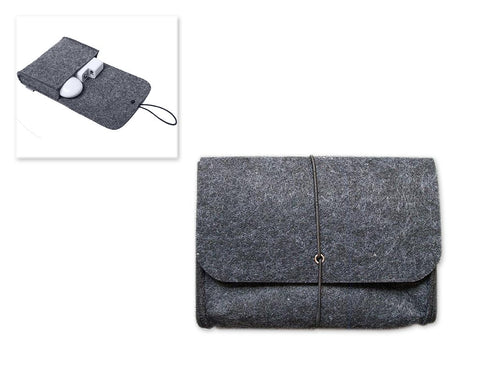 Wool Series MacBook Accessories Hand Pouch - Gray