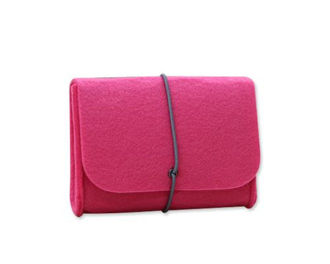 Wool Series MacBook Accessories Hand Pouch - Magenta