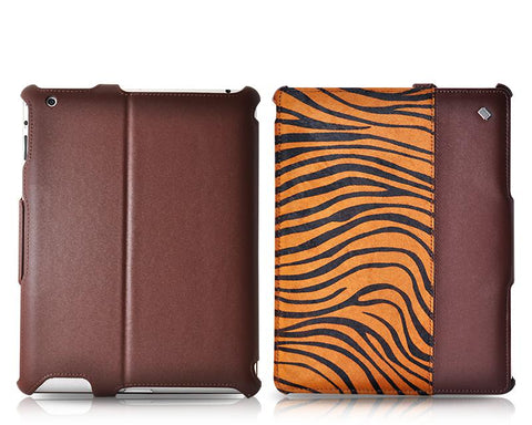 Le nouveau Wild iPad 4 The New iPad Flip Leather Case - Tiger Pattern