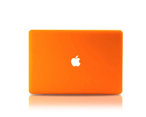 "Matt Series 12"" MacBook Hollow-out Logo Hard Case - Orange"