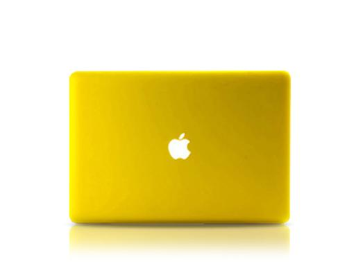 "Matt Series 12"" MacBook Hollow-out Logo Hard Case - Yellow"