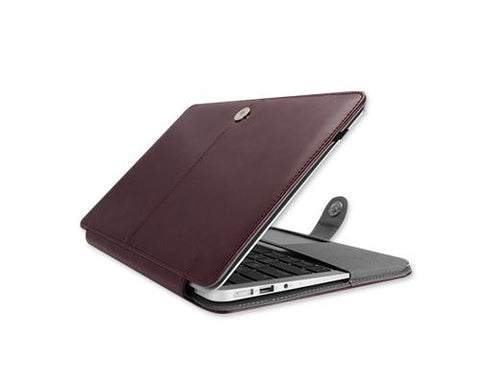 "Fold Series 11"" MacBook Air Flip Leather Case - Deep Brown"