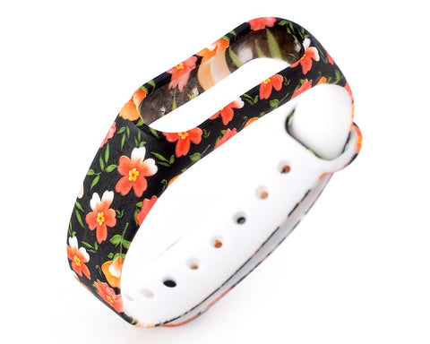 Flower Series Replacement Band for Xiaomi Mi Band 2 - Orange