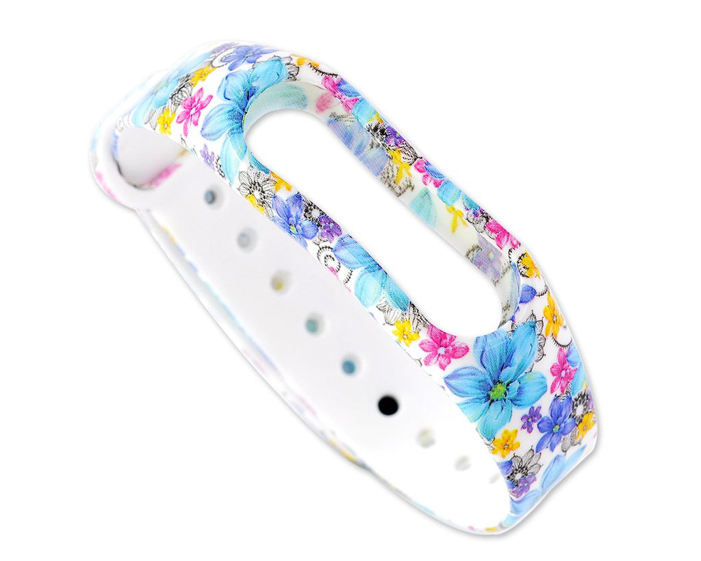 Flower Series Replacement Band for Xiaomi Mi Band 2 - Blue