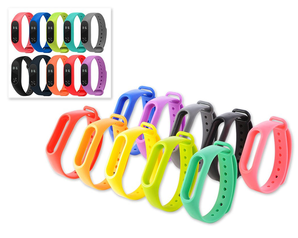 Set of 10 Pcs Replacement Bands for Xiaomi Mi Band 2
