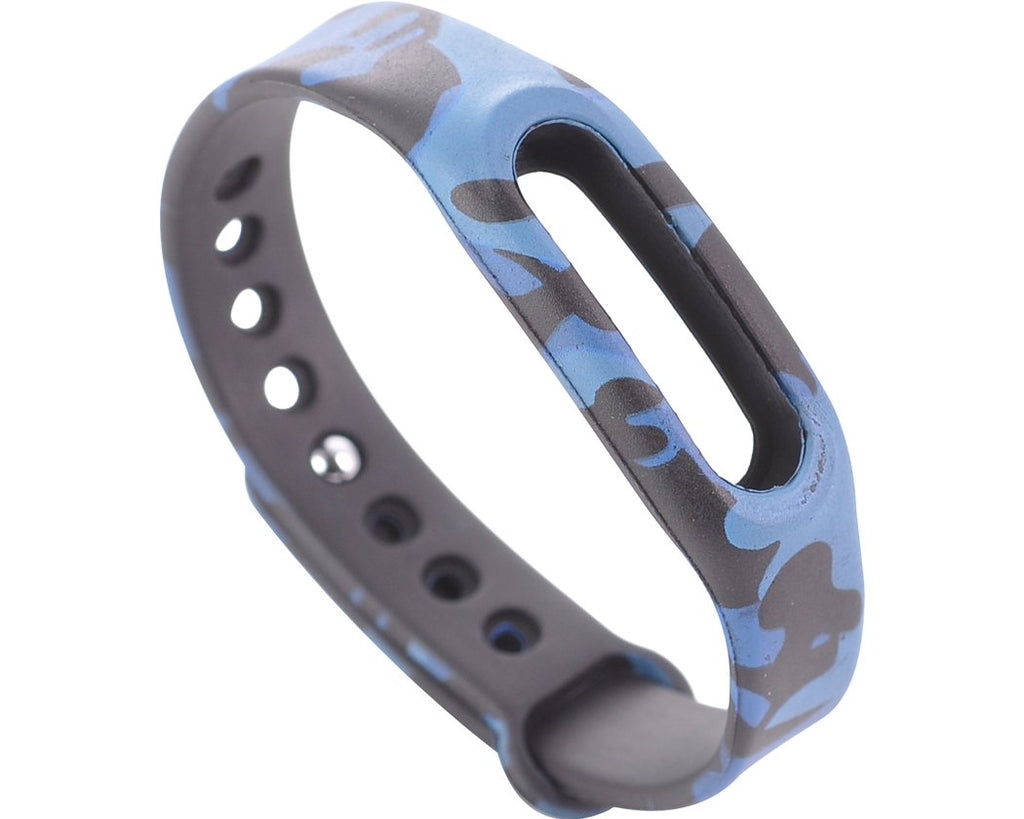 Replacement Band for Xiaomi Mi Band Smart Bracelet-Camo Blue