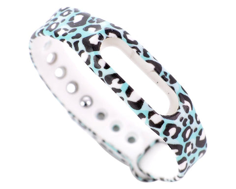 Replacement Band for Xiaomi Mi Band Smart Bracelet-Leopard Cyan