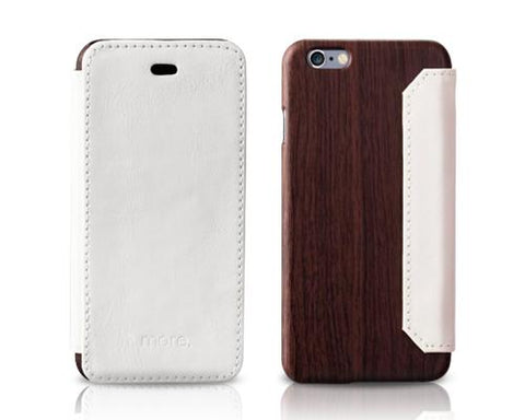 More-Thing Oak Wallet Series iPhone 6 Leather Case (4.7 inches) -White