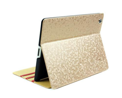 Lusso Series iPad 2 New iPad Flip Leather Case - Gold