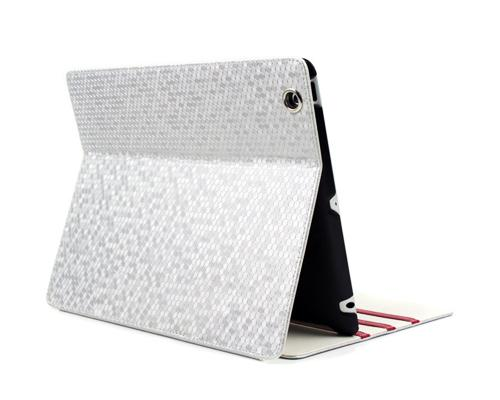 Lusso Series iPad 2 New iPad Flip Leather Case - Silver