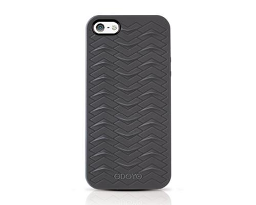 Odoyo SharkSkin Series iPhone 5 and 5S Silicone Case - Midnight Black