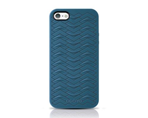Odoyo SharkSkin Series iPhone 5 and 5S Silicone Case - Navy Blue