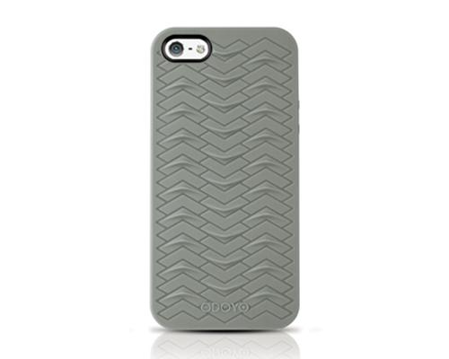 Odoyo SharkSkin Series iPhone 5 and 5S Silicone Case - Mist Gray