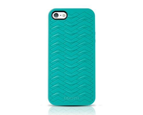 Odoyo SharkSkin Series iPhone 5 and 5S Silicone Case - Teal Blue