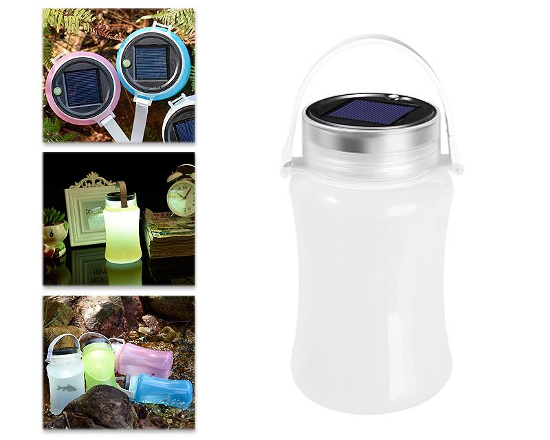 Solar Rechargeable Waterproof Outdoor LED Camping Tent Lantern - White