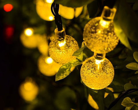 30 LED Solar Powered Ball String Lights