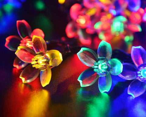 50 Bulbs Flower Solar String Lights