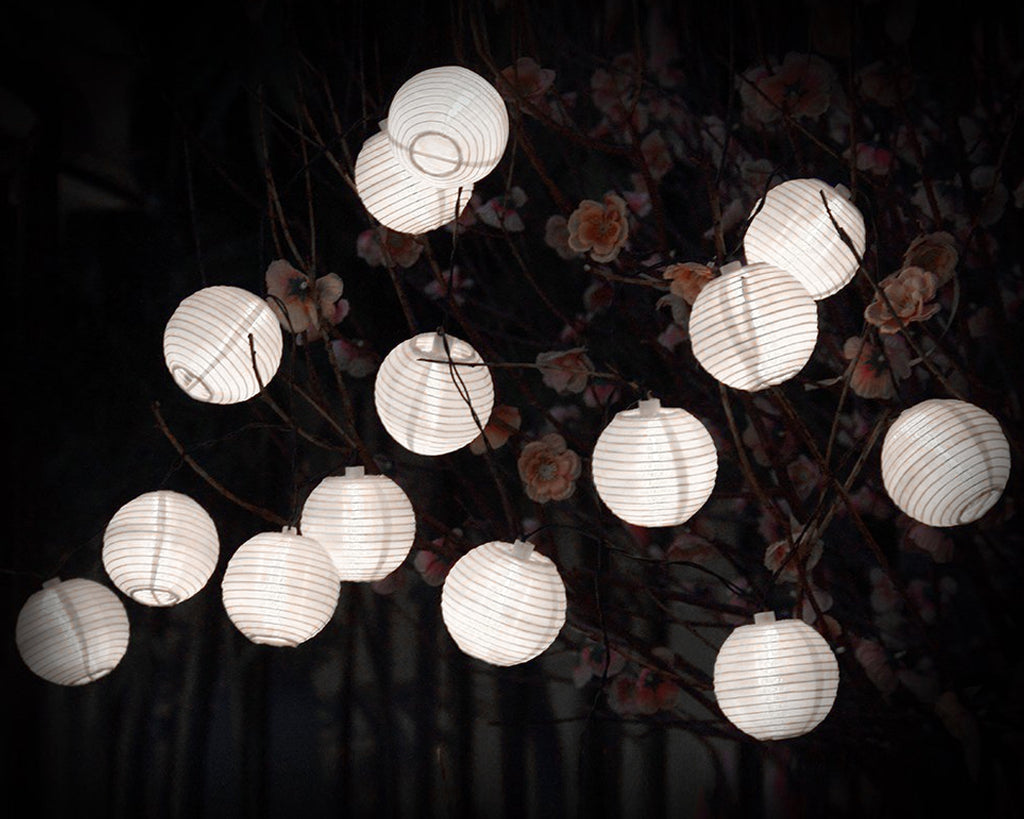 20 LED Solar Powered Ball Shaped Outdoor String Lights