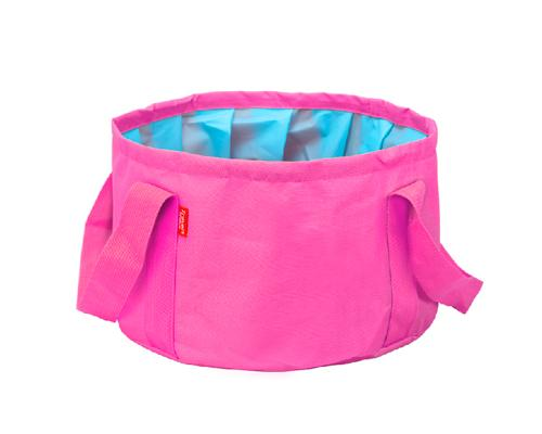 Foldable Outdoor Camping Wash Basin - Pink