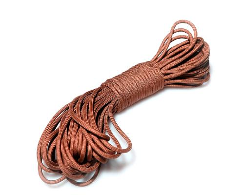 7 Strands High Strength 550 Cord - Wolf Brown