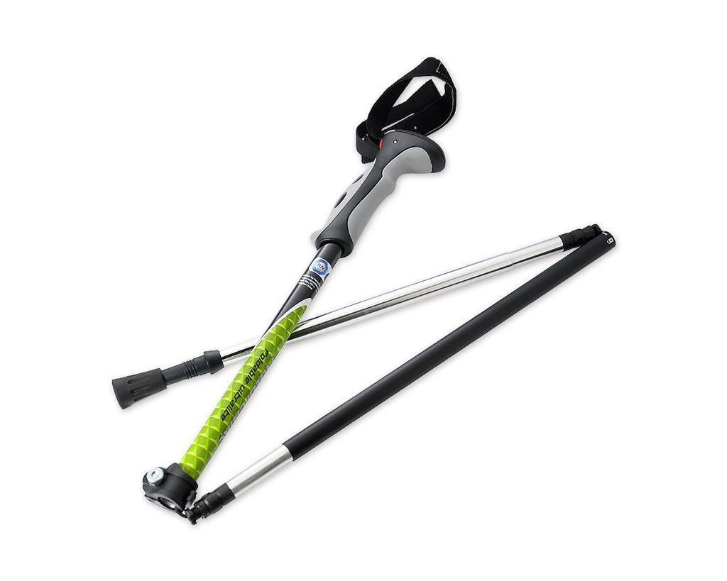 Foldable Trekking Pole for Hiking- Green