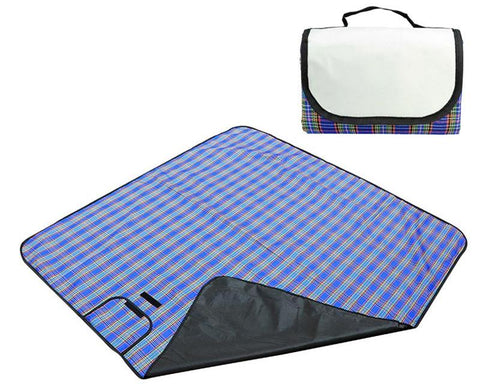 Foldable Outdoor Picnic Blanket - Blue