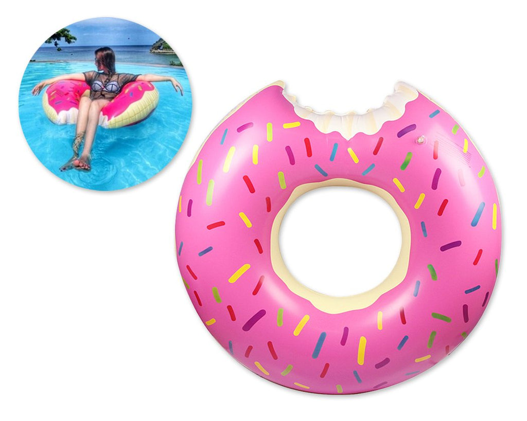 Giant Inflatable Donut Pool Float Toy - Pink
