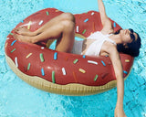 Giant Inflatable Donut Pool Float Toy - Brown