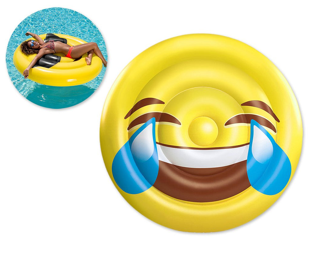 Tears of Joy Emoji Inflatable Pool Floating Lounger