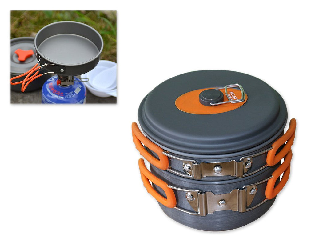 8 Pieces Portable Camping Cookware Set