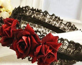 Lace Headband for Lolita Maid Cosplay Costume Party - Red