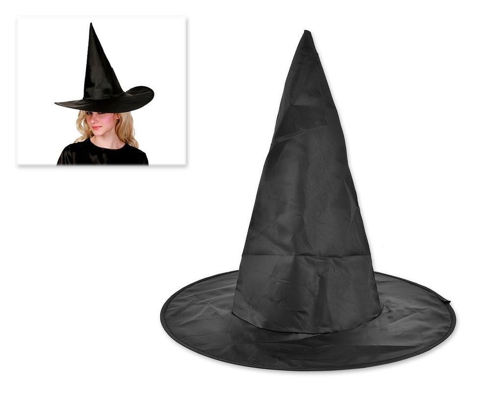 Halloween Party Costume Accessory Powerful Wicked Witch Hat - Black