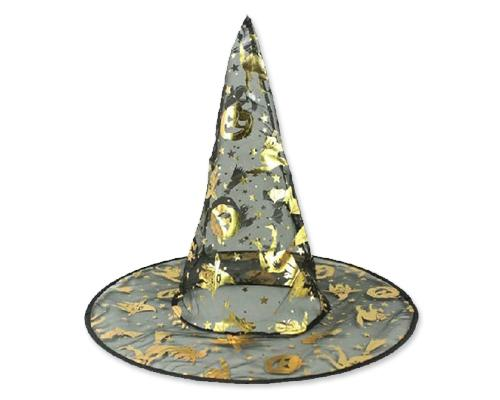 Halloween Party Costume Accessory Lady Kids Pumpkin Print Witch Hat