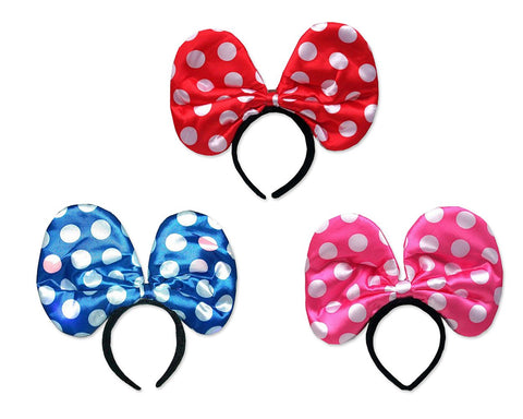 Party Costume Accessory LED Flashing Polka Dot Bow Headband