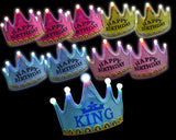 10 Pcs 5 Bulbs Happy Birthday Printed LED Crowns
