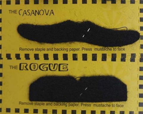 12 Pcs Fake Mustache Stickers Set For Costume Party - Black