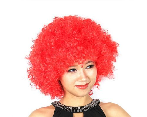 Afro Clown Costumes Wig - Red